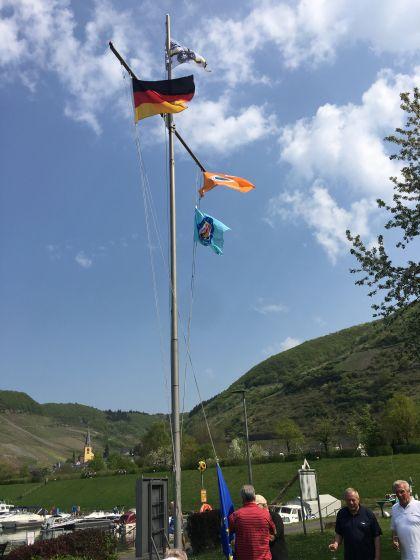 Flaggehissen 2018 WSV Senheim